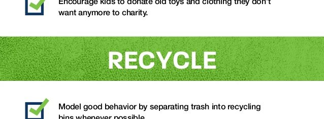 Infographic for kids to learn how to recycle